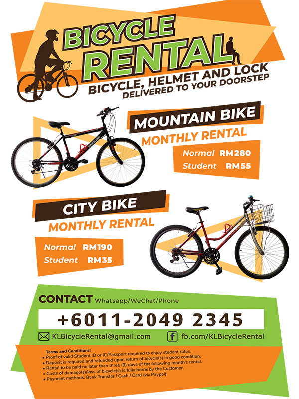 KLBicycleRental rent bicycle and ride anytime anywhere