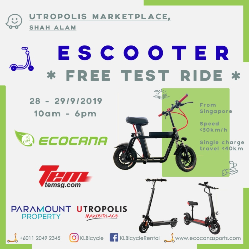 Free E-Scooter Test Ride 2019