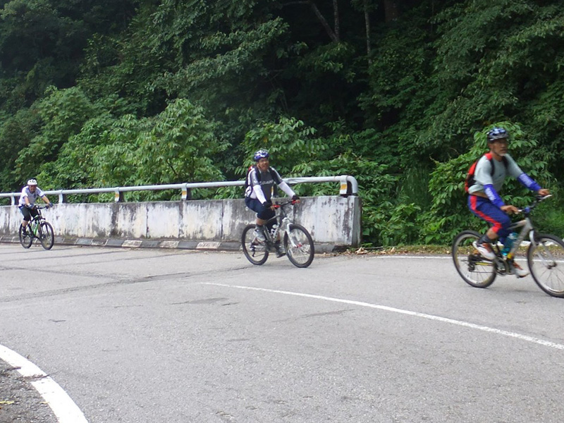 Cycling at Genting Sempah