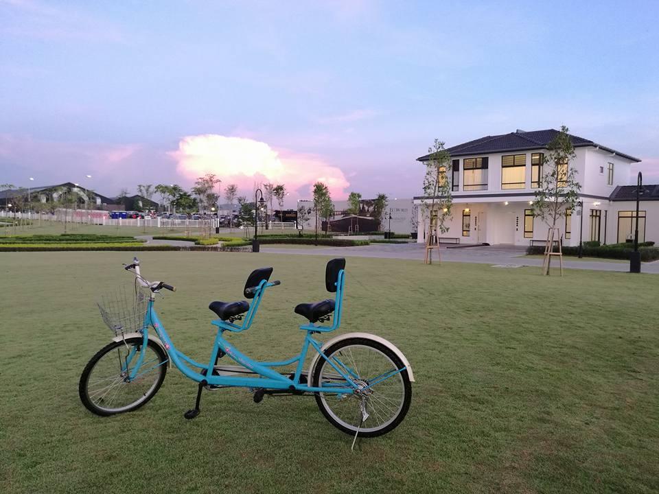 Cycling at Ecoworld's Eco Grandeur