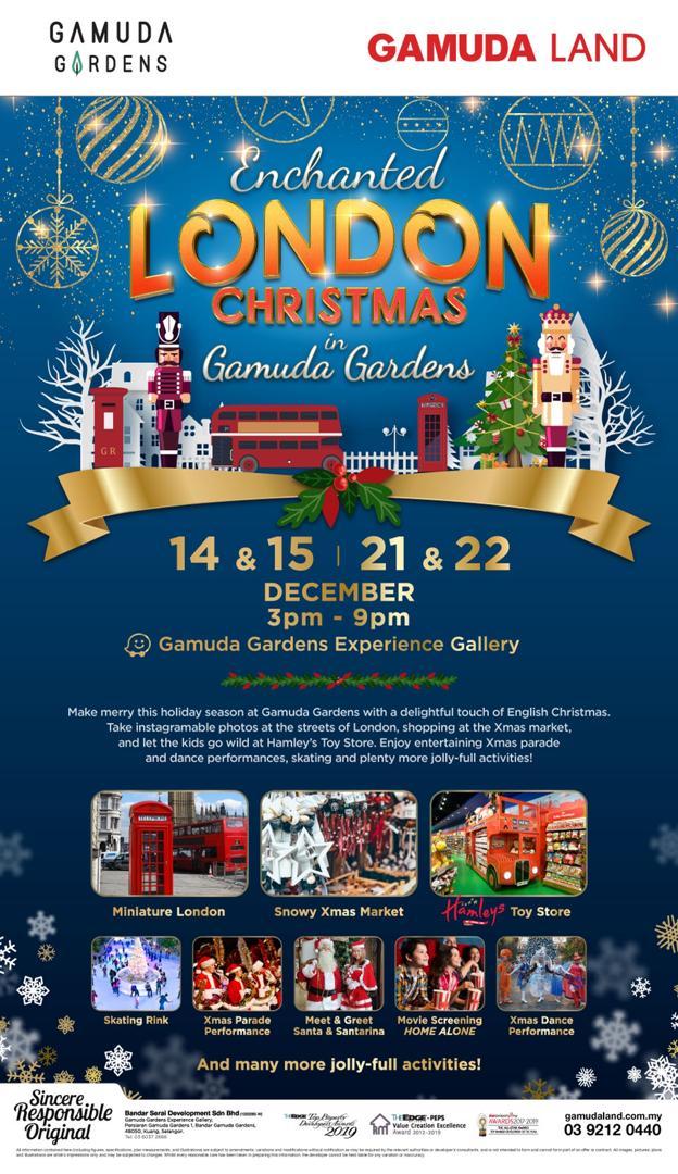 London Christmas 2019 in Gamuda Gardens
