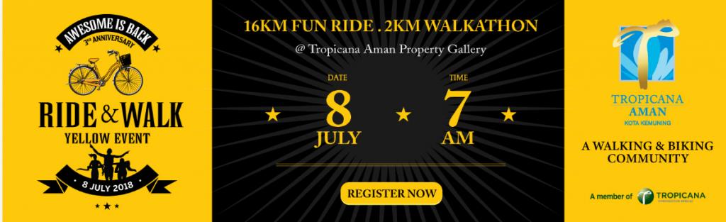 Tropicana Aman Ride & Walk Yellow Event 2018