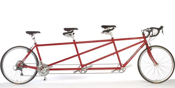 Triple Seat Bike!